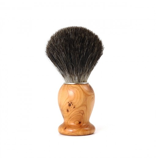Blaireau de rasage en Bois de Cade. Gris. Collection Classique