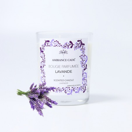 Candle with the fragrance of Lavander