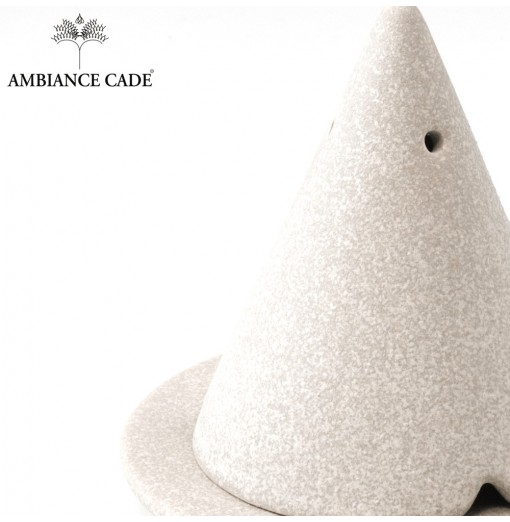 LAMPE MERLIN® - Gris effet pierre: Diffuseur d'encens de poudre de Cade naturelle.