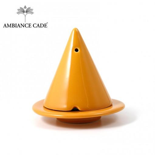 LAMPE MERLIN® - Moutarde : Diffuseur d'encens de poudre de Cade naturelle.