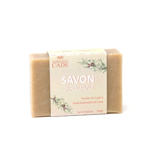 Cold saponified exfoliating soap with essential oil of organic Cade wood