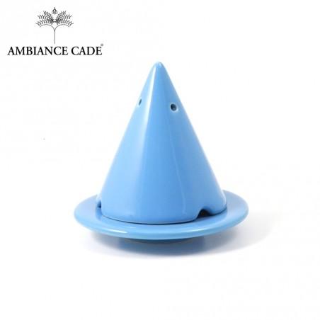 LAMPE MERLIN® - Turquoise : Diffuseur d'encens de poudre de Cade naturelle.