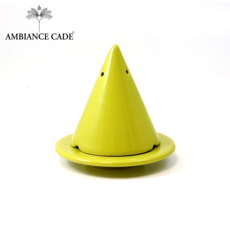 LAMPE MERLIN® - Green Olive : Diffuseur d'encens de poudre de Cade naturelle.