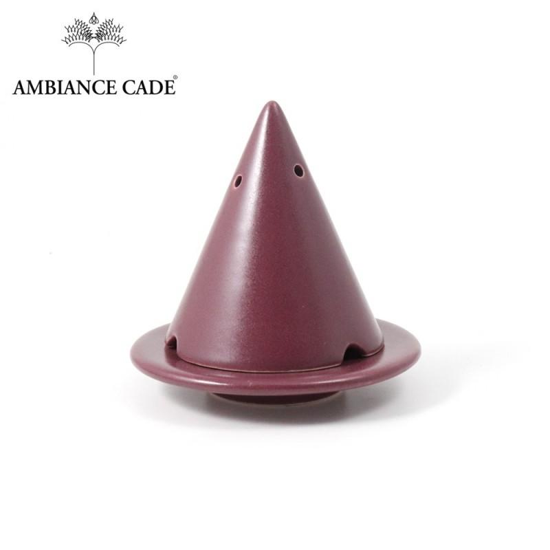 LAMPE MERLIN® - Aubergine : Diffuseur d'encens de poudre de Cade naturelle.