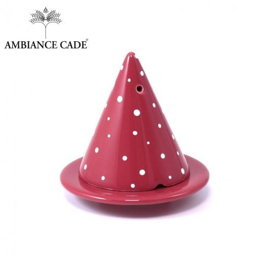 LAMPE MERLIN® - Rouge - Peinte avec gros pois rouge