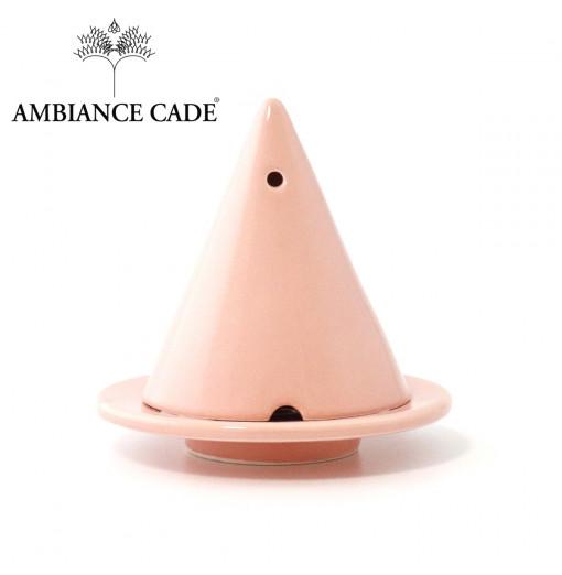 LAMPE MERLIN® - Rose : Diffuseur d'encens de poudre de Cade naturelle.