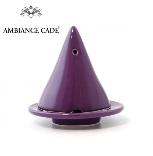 LAMPE MERLIN® - Prune : Diffuseur d'encens de poudre de Cade naturelle.