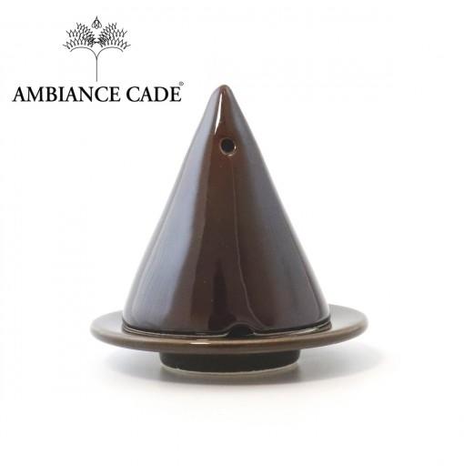 LAMPE MERLIN® - Chocolat : Diffuseur d'encens de poudre de Cade naturelle.