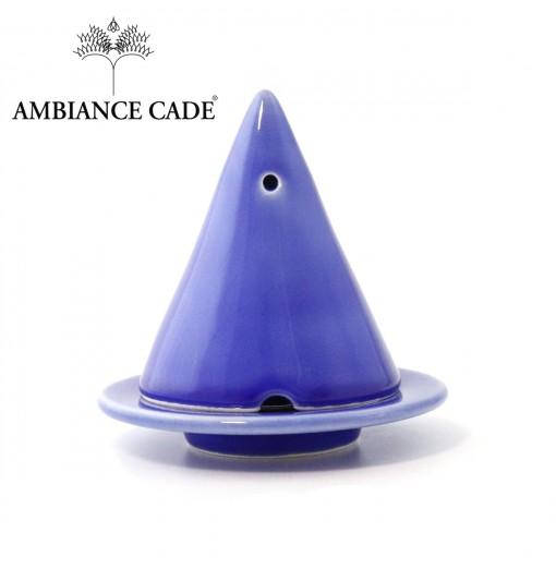 LAMPE MERLIN® - Bleu Lavande : Diffuseur d'encens de poudre de Cade naturelle.