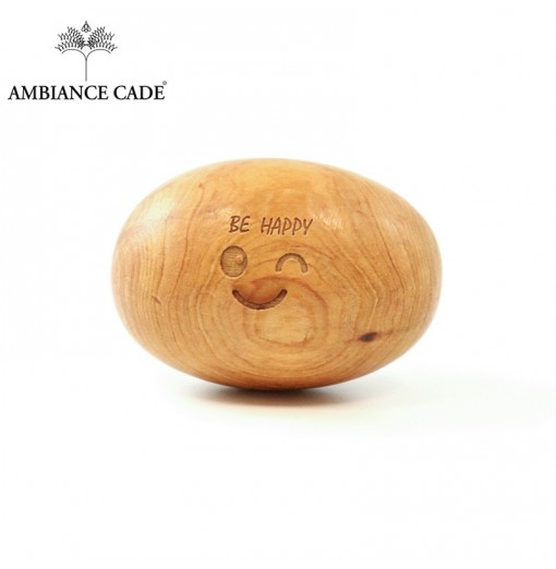 "Cadalithe en bois de cade sauvage ""Be happy"""