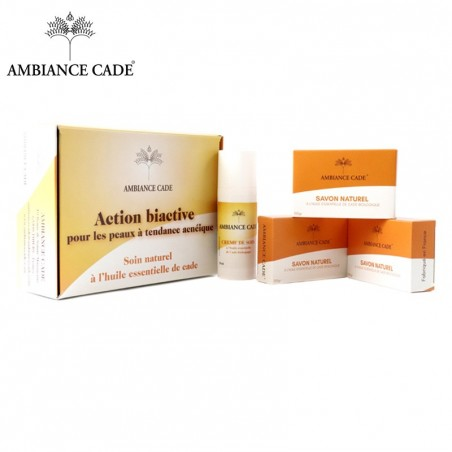 Gift box of care products for skin prone to acne