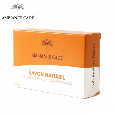 Natural soap with essential oil of organic Cade wood