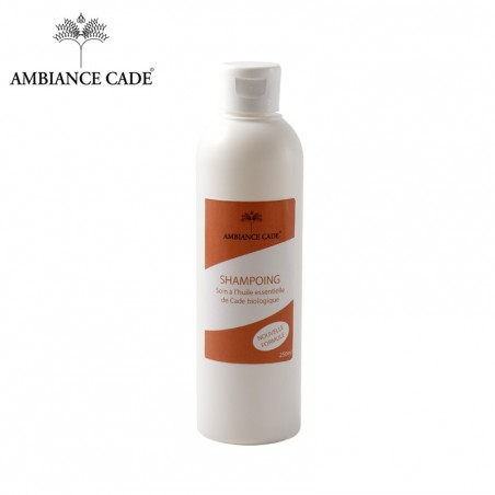 Hair care shampoo with essential oil of organic Cade wood