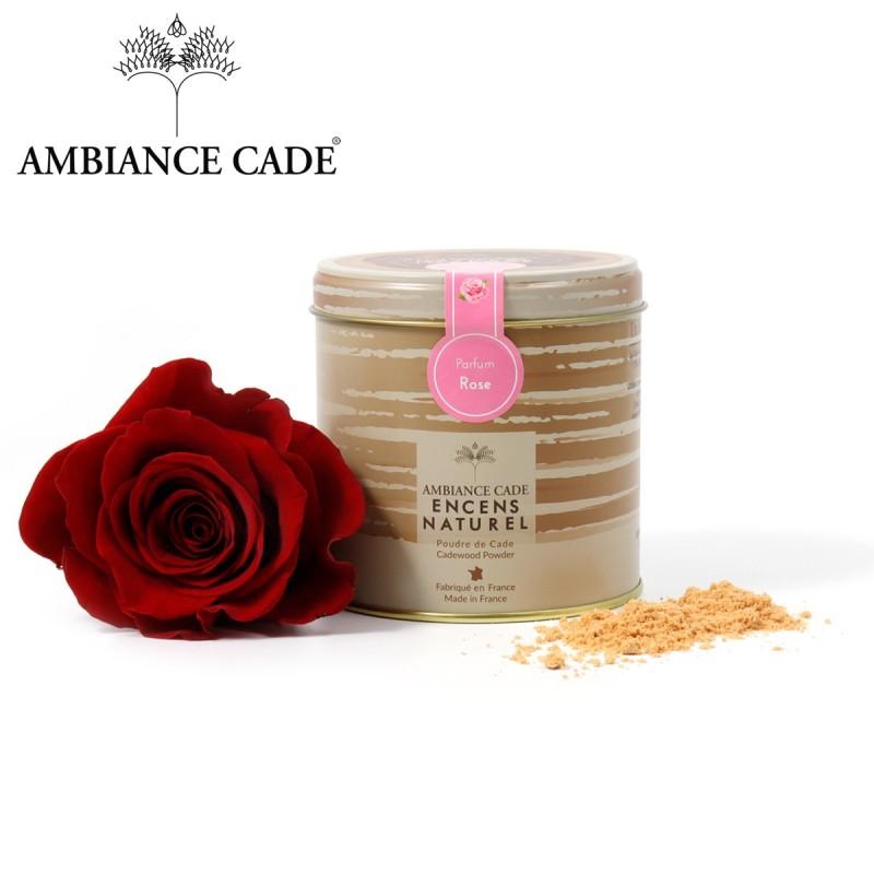Boite de poudre de cade + rose