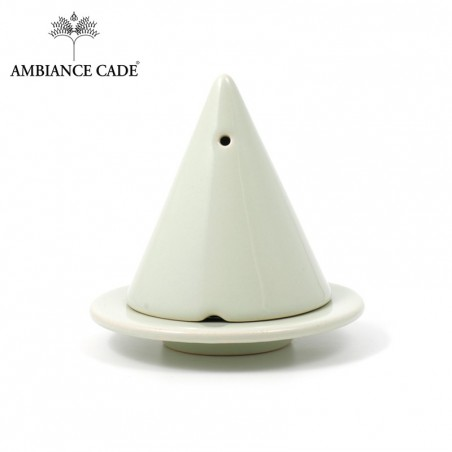LAMPE MERLIN® - Verte : Diffuseur d'encens de poudre de Cade naturelle.