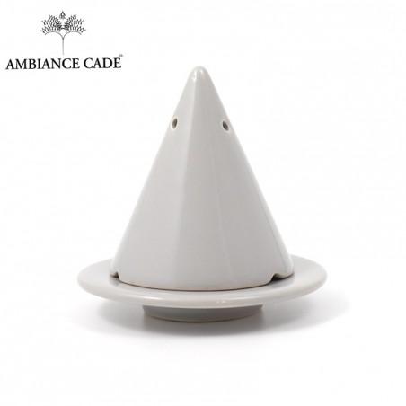 LAMPE MERLIN® - Grise : Diffuseur d'encens de poudre de Cade naturelle.