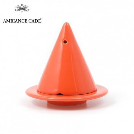 LAMPE MERLIN® - Orange Vif : Diffuseur d'encens de poudre de Cade naturelle.