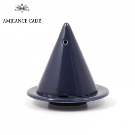 Lampe Merlin Bleu Nuit - Diffuseur d'encens Naturel, poudre de cade