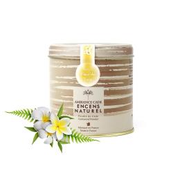 Notre chouchou pour un été ensoleillé : la poudre de Cade, parfum Fleur de Tiaré ☀️  ~ #fleur #tiare #poudre #cade #poudredecade #boisdecade #ete #soleil #ocean #mer #encens #naturel #encensnaturel #parfum #senteur #madeinfrance #auvergne #wood #incense #plante #vacance #vacances #summer #faismain #repas #terrasse #moustique #detente