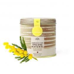 Envie d'une odeur florale ? ???? Voici notre poudre naturelle de Cade Mimosa, la senteur du printemps par excellence ???? ~   #poudredecade #encenscade #cade #encens #naturel #france #mimosa #fleur #spring #printemps #floral #madeinfrance #faitmain #handmade #ambiancecade #detente #antimoustique #soiréeété #picture #monday #mood #soleil #bois #natural #senteur #fragrance #odeur #parfum #insecte #mediation